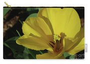 A Close Up Look At A Yellow Flowering Tulip Blossom Carry-all Pouch