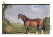 A Clydesdale Stallion Carry-all Pouch by John Frederick Herring Snr