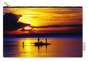 A Colorful Golden Fishermen Sunset Vertical Print Carry-all Pouch
