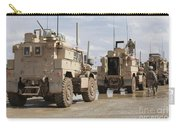 A Convoy Of Mrap Vehicles Near Camp Carry-all Pouch