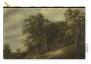 A Cottage Among Trees On The Bank Of A Stream Carry-all Pouch