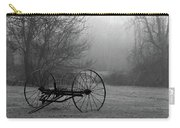 A Country Scene In Black And White Carry-all Pouch