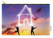 A Couple Jump And Make A House Symbol Of Light Carry-all Pouch