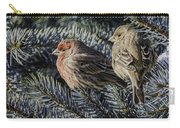 A Couple Of House Finch Carry-all Pouch by LeeAnn McLaneGoetz McLaneGoetzStudioLLCcom