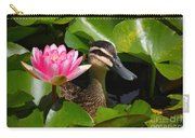 A Curious Duck And A Water Lily Carry-all Pouch