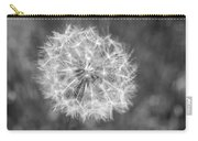 A Dandelion Black And White Carry-all Pouch