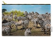 A Dazzle Of Zebras Carry-all Pouch