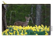 A Deer And Daffodils 4 Carry-all Pouch