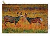 A Deer Kiss Carry-all Pouch