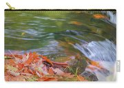 Flowing Water Fall Leaves Closeup Carry-all Pouch