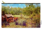 Grist Mill With Flowing Water Carry-all Pouch