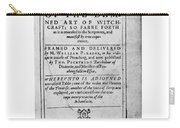 A Discourse On The Damned Art Of Witchcraft Carry-all Pouch