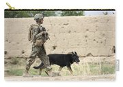 A Dog Handler Of The U.s. Marine Corps Carry-all Pouch