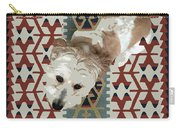 A Dog In On A Rug Carry-all Pouch