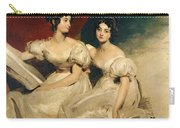 A Double Portrait Of The Fullerton Sisters Carry-all Pouch by Sir Thomas Lawrence