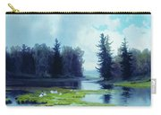 A Dreary Day At The Pond Carry-all Pouch