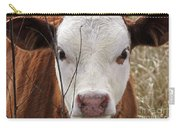 A Face You Can Love - Cow Art #609 Carry-all Pouch