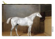 A Favourite Grey Horse Belonging To George Reed Standing In A Loose Box Carry-all Pouch