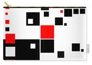 Black And Red Squares Carry-all Pouch