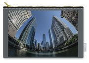 A Fisheye View Of The Chicago Skyline As You Appraoch Wolf Point Carry-all Pouch
