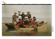 A Fishing Party Off Long Island Metal Carry-all Pouch