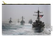 A Fleet Of Ships In Formation At Sea Carry-all Pouch