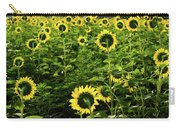 A Flock Of Blooming Sunflowers Carry-all Pouch by Dennis Dame