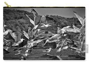A Flock Of Seagulls Flying High To Summer Sky Carry-all Pouch