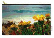 A Flowery View Of The Surf Watercolor Carry-all Pouch