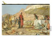 A Frank Encampment In The Desert Of Mount Sinai 1842 Carry-all Pouch