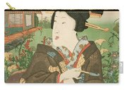 A Geisha With A Pipe Carry-all Pouch
