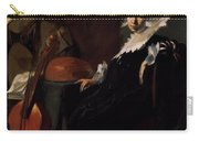 A Gentleman And A Lady With Musical Instruments Carry-all Pouch