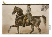 A Gentleman On Horseback With A Subsidiary Study Of The Horse's Head Carry-all Pouch