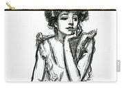 A Gibson Girl Posing Carry-all Pouch