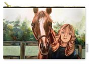 Wide Eyed Girl And Her Horse Carry-all Pouch