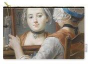 A Girl Wearing A Bonnet Carry-all Pouch