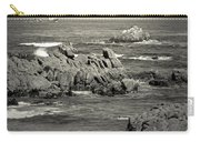 A Good Day Fishing On Monterey Bay In Black And White Carry-all Pouch