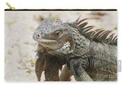 A Gray Iguana With Spines Along It's Back Carry-all Pouch