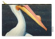 A Great White American Pelican Carry-all Pouch by James W Johnson