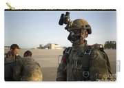 A Green Beret Waits To Have His Gear Carry-all Pouch