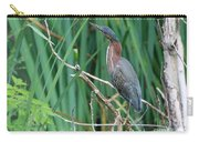 A Green Heron By The Canal Carry-all Pouch
