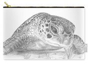 A Green Sea Turtle Grayscale Carry-all Pouch