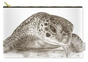 A Green Sea Turtle In Earthtones Carry-all Pouch