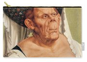 A Grotesque Old Woman Carry-all Pouch