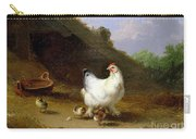 A Hen With Her Chicks Carry-all Pouch