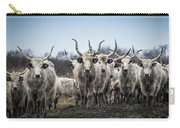 Grey Cattle Herd Carry-all Pouch