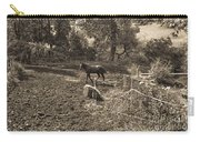 A Horse In The Field Carry-all Pouch