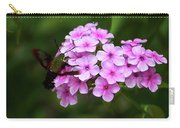 A Hummingbird Moth With Phlox Flowers Carry-all Pouch