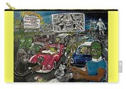 A I P Monster Movie Marathon At The Twilight Drive - In  La Porte Indiana Carry-all Pouch