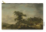 A Landscape With A Farm On The Bank Of A River Carry-all Pouch